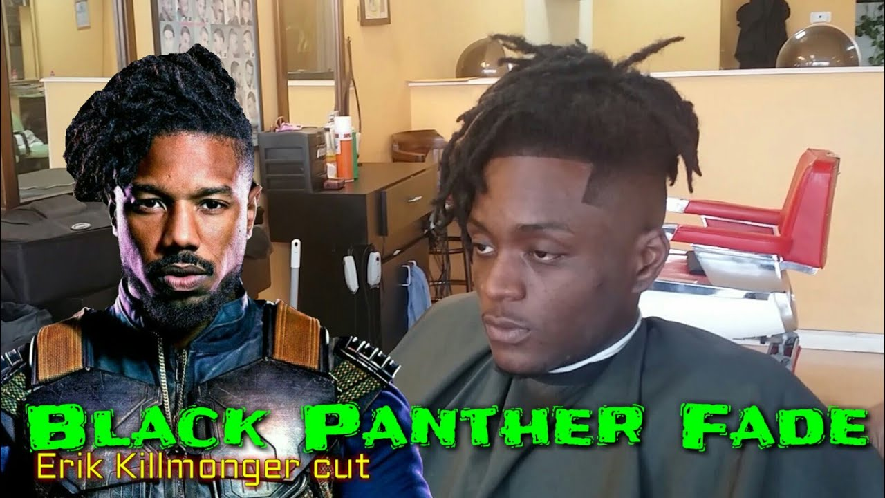 Black Panther Haircut / Erik Killmonger Fade (Michael B. Jordan) - YouTube