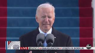 President Joe Biden's inaugural address: Watch full speech video from Inauguration Day 2021 | A