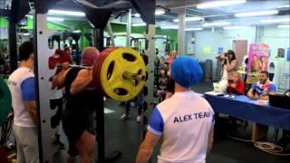 AlexPower - 2015 соревнования по троеборью (Присед) ФЛЕКС-СПОРТ