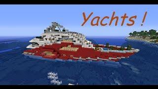 Minecraft - visite de 2 yachts !