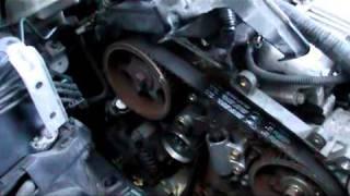 Toyota avensis D4D  2 litre diesel timing belt installation