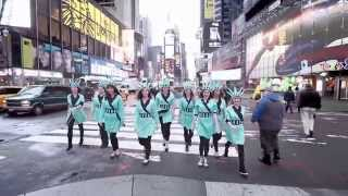Liberty Tax in Times Square for Tax Day 2014, Making Taxes Fun!