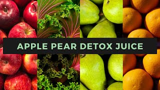 Apple Pear Detox Juice Recipe in the Thermomix TM6 #HealthyDiet #DetoxJuice VeginnerCooking.com