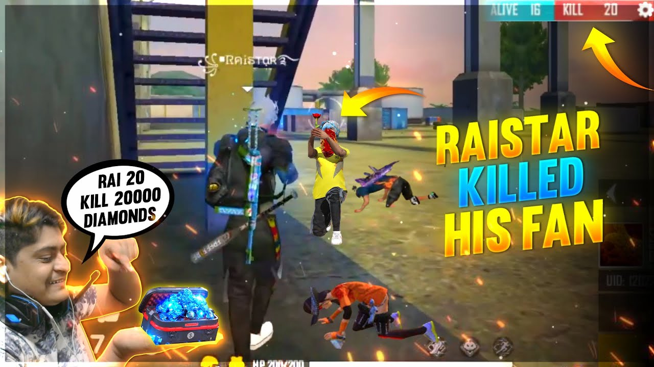 Raistar OMG 5 Minutes 20 Killed Challenged 20000 Diamond | Garena Free Fire