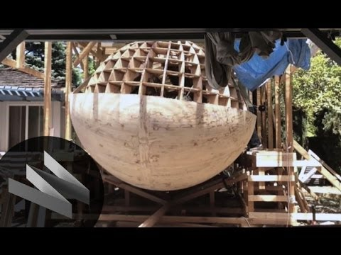 Building a tsunami-ready lifeboat. - Building a tsunami-ready lifeboat.