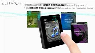 Creative ZEN X-Fi3 - Bluetooth Touch MP3 player with microSD slot