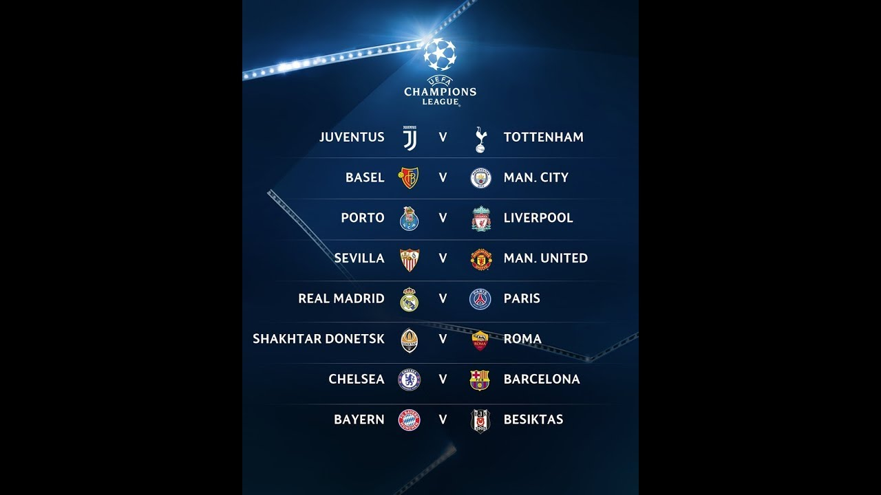 Uefa Champions League Draw 2017 18 Fixtures Datesplaces And Time