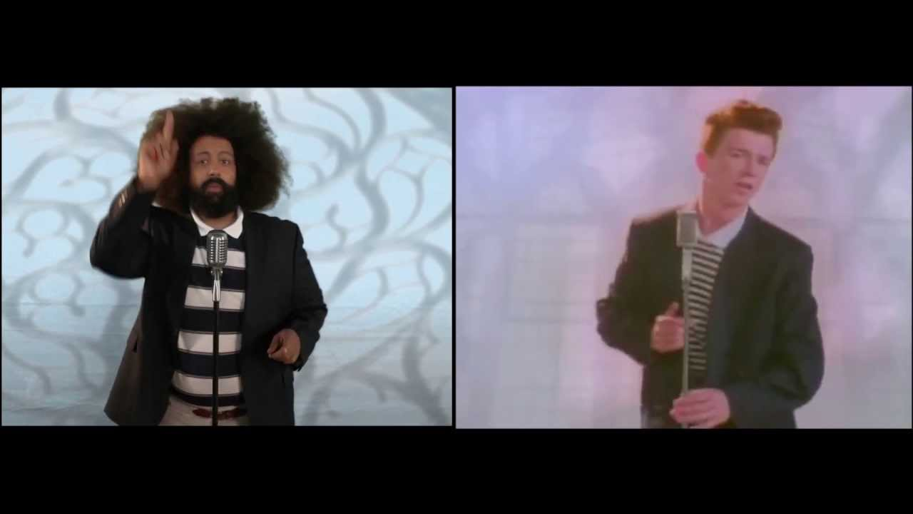 Reggie Watts vs. Rick Astley Never Gonna Give You Up split ...