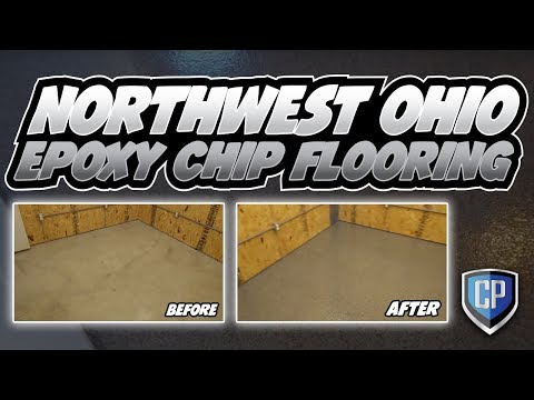 Northwest Ohio Epoxy Chip Flooring