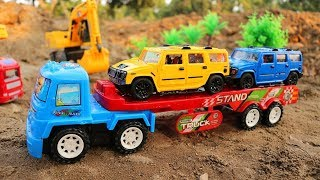 Construction Vehicles Toys - Excavator , Truck , Crane truck ,Car Toys For Kids