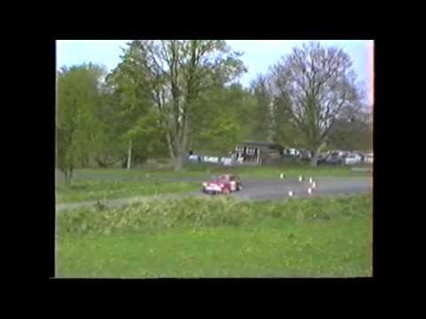 Ken Heywood driving a works Mini Sprint at Loton Park Hillclimb, April and May 1992