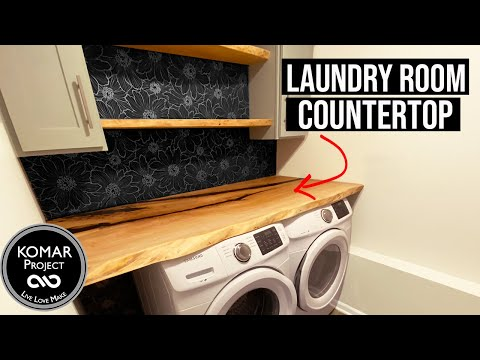Making a EPOXY Live Edge Slab Countertop for the Laundry Room