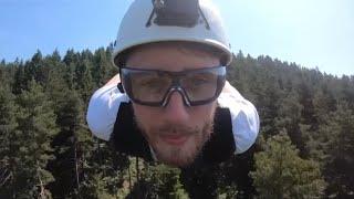 Längste Seilrutsche Europas: Mit 120 km/h ins Tal