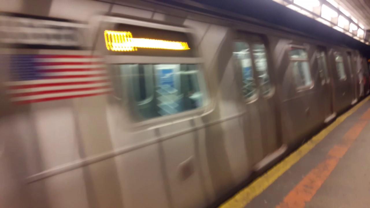 MTA R160 Q TRAIN at Church Avenue via the B line - YouTube