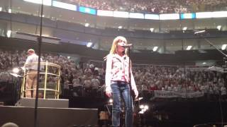 Connie Talbot Rolling in the Deep Rehearsal - Young Voices event O2 Arena London 2012