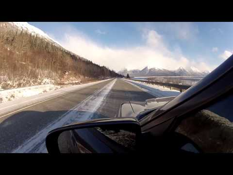 Seward Highway South of Anchorage Turnagain Arm of the Cook Inlet Alaska - Feb 2014