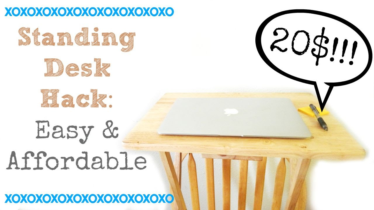 DIY: Standing Desk Hack  Affordable U0026 Easy ( Under 20$)   YouTube