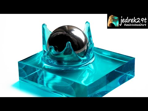 Splash of Water from Resin. How to make Resin Splash / RESIN ART