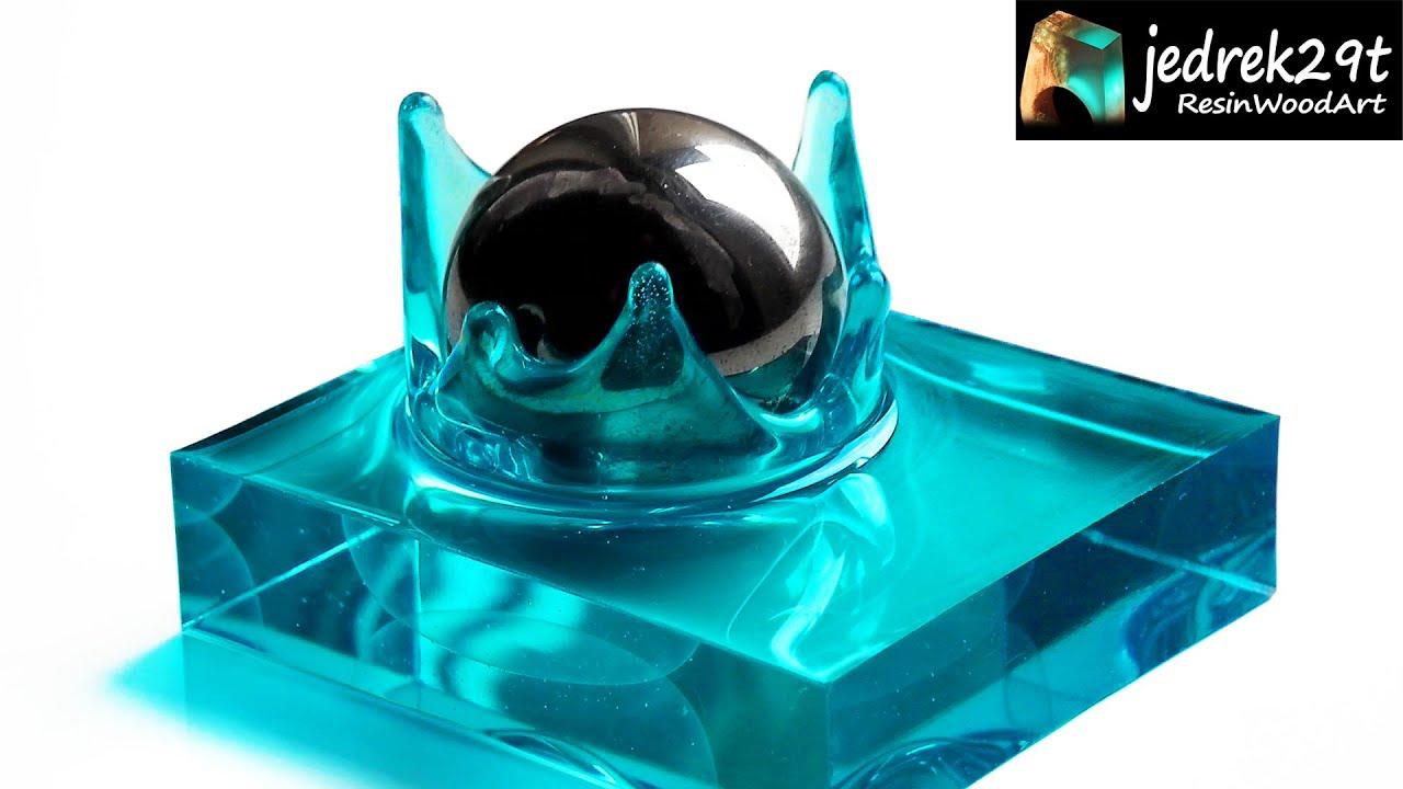 Splash of Water from Resin. How to make Resin Splash / RESIN ART