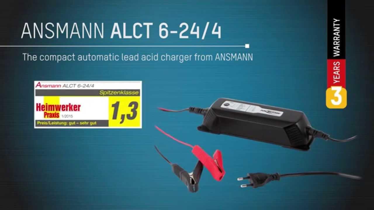 Ansmann Lead Acid Battery Charger Alct 6 24 4 For 6v 12v 24v Re 12 V Sla Cutoff Circuit Required Batteries