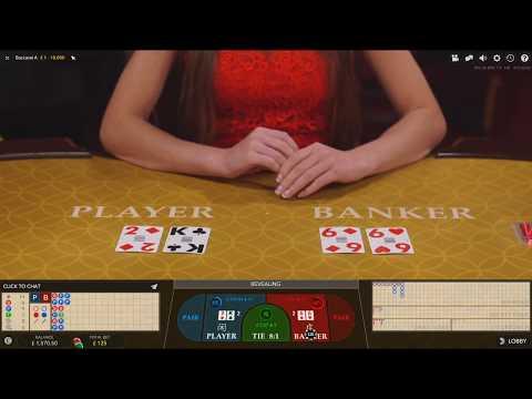 £1200 Start Live Dealer Casino Baccarat Session