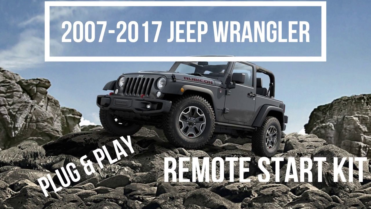 Plug /& Play Remote Start Keyless Entry w// T-Harness Wrangler Push To Start 2016