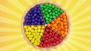 gumball pie surprise best learning video for kids learn colors preschoolers babies toddlers toys
