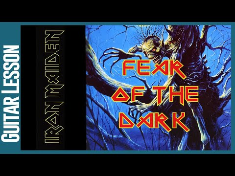 Fear Of The Dark By Iron Maiden - Guitar Lesson Tutorial - Repost