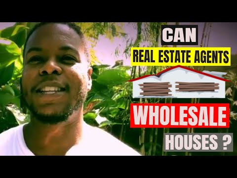 Can Real Estate Agents Wholesale Properties - YouTube