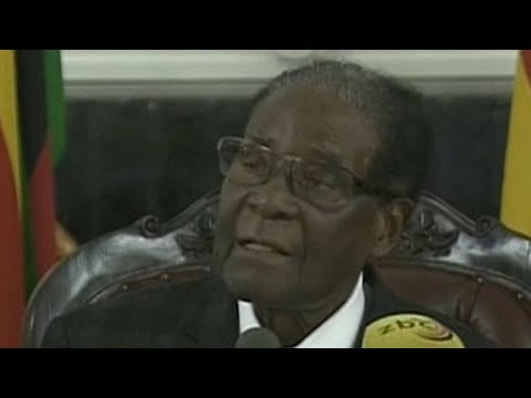Zimbabwe's Robert Mugabe gives televised speech