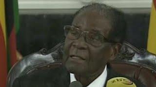 Zimbabwe's Robert Mugabe gives televised speech