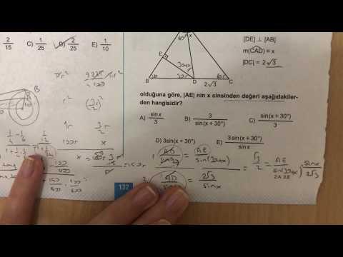 345 AYT Trigonometri-II Ösym Tadında-5 Anlatımlı Çözümleri (2018-2019 basım)