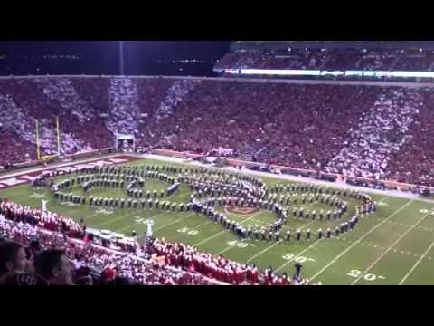Notre Dame Marching Band plays Back to the Future