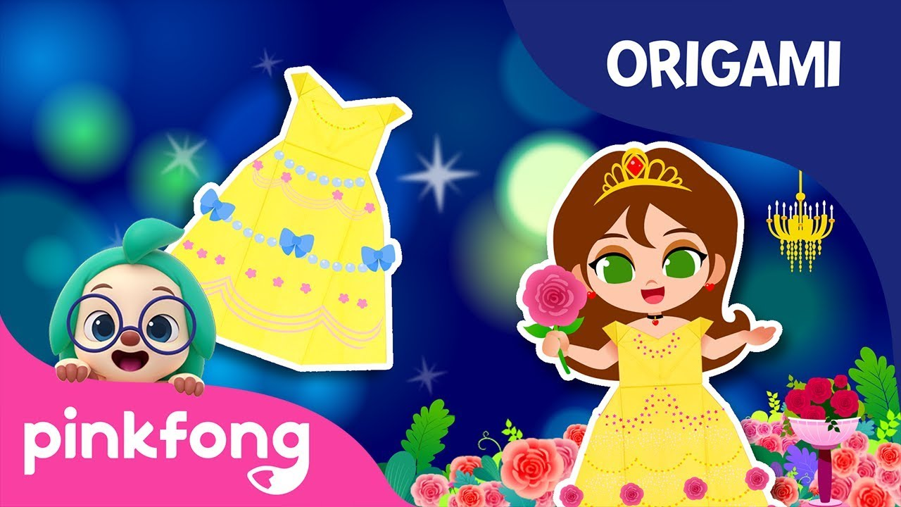 Beauty and the Beast: Belles Dress | Origami | Princess Songs | Pinkfong Crafts for Children
