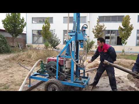 Portable Hydraulic Water Well Drilling Rig HF260D-100