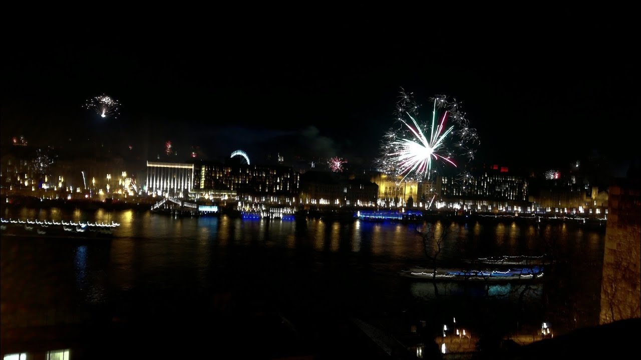 Budapest firework - new year 2017 / 2018  Time lapse full review