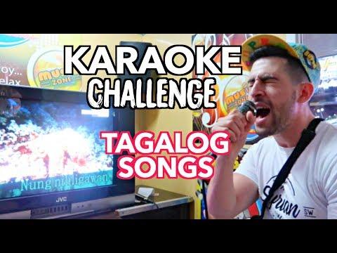 KARAOKE 1st timer! SINGING FILIPINO SONGS Challenge