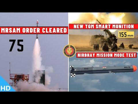 Indian Defence Updates : 75 MRSAM Order,New 155mm TGM,Nirbhay Test,Lorros Upgrade,Wingman Copied