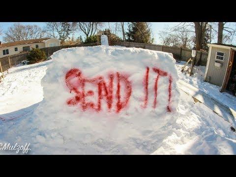 BACKYARD SNOWBOARD PARK // ALL THE SCRAP CLIPS!