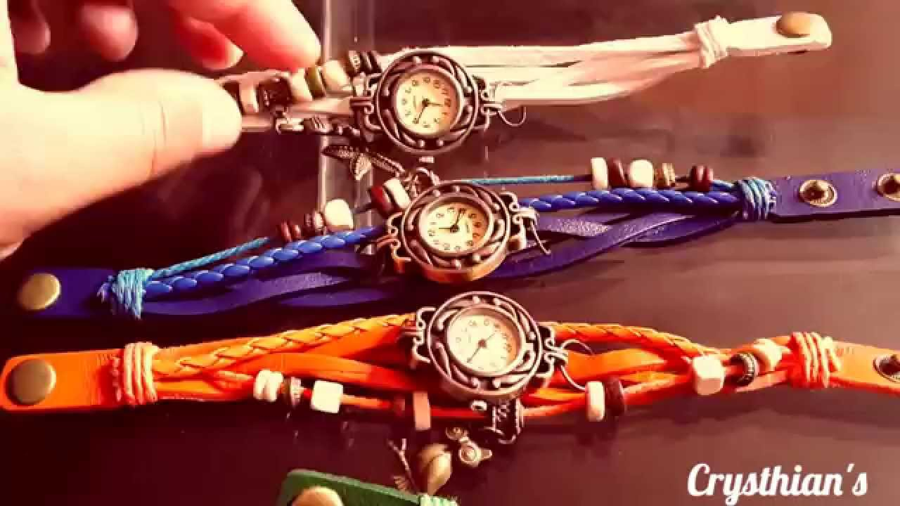 Reloj pulsera vintage de cuero youtube - Reloj decorativo de pared ...