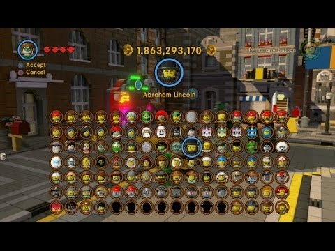 Lego Movie Videogame All 105 Characters Unlocked Complete Grid Updated Youtube