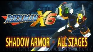 Mega Man X6 - Shadow Armor Playthrough (All Stages) No Damage - Xtreme Mode