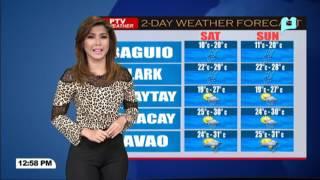 PTV INFO WEATHER: Maulap at maulan na panahon sa Mindanao, magpapatuloy