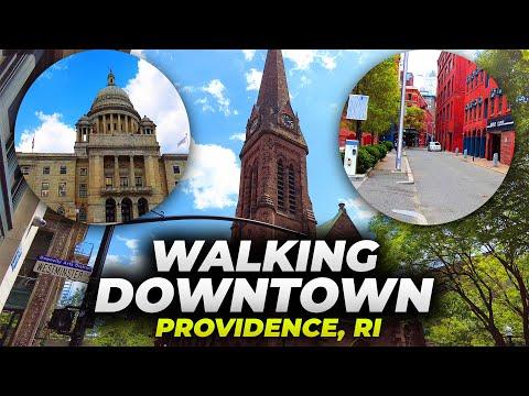 Walking Downtown Providence, Rhode Island