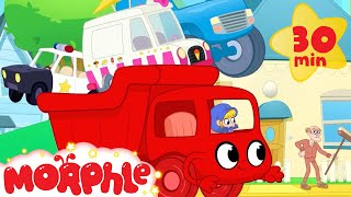 BIG RED TRUCK! My Magic Pet Morphle   Cartoons For Kids   Morphle   Mila and Morphle Trucks For Kids