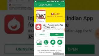 Injoy Fun App Unlimited free Paytm cash earn Hindi video