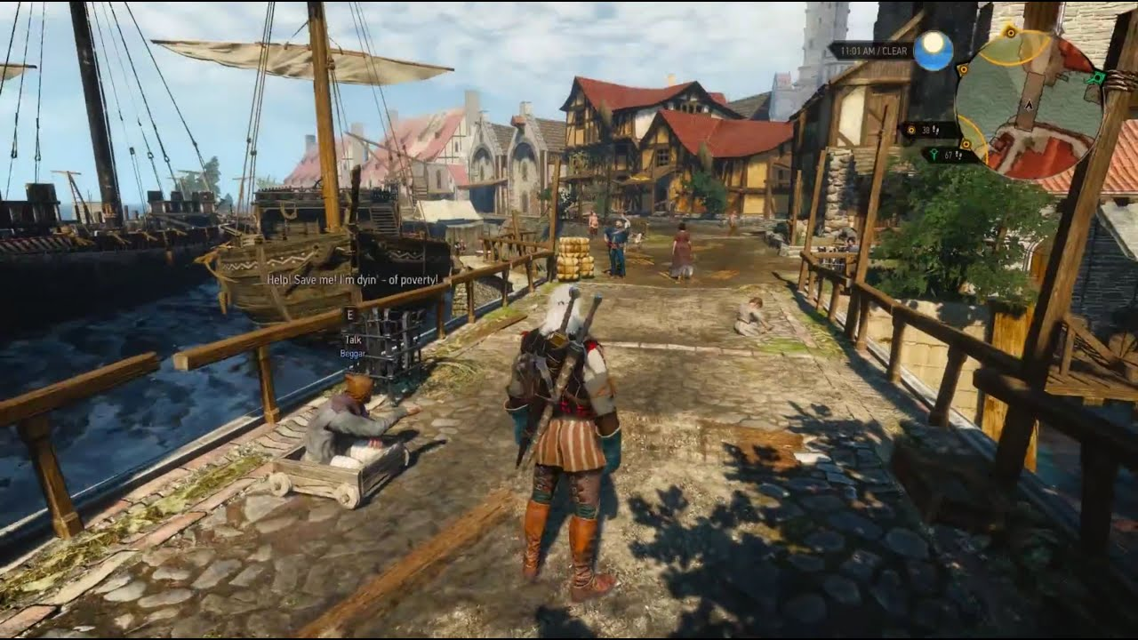 Living city of Novigrad (Witcher 3) - YouTube