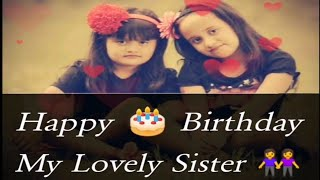 Happy birthday sister/birthday wishes for sister/birthday wishes for elder and younger sister