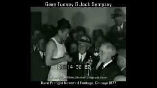Jack Dempsey & Gene Tunney 1927 | Rare Newsreel and Weigh-In Footage