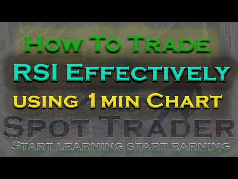 HOW TO USE RSI WITH 1 MINUTE CHART l SPOT TRADER